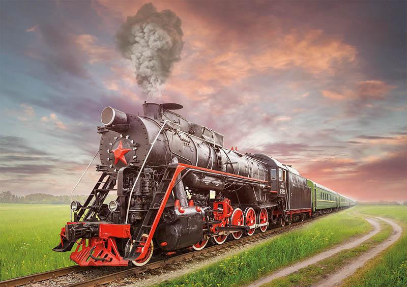 Puzzle Educa Locomotora de Vapor de 2000 Piezas