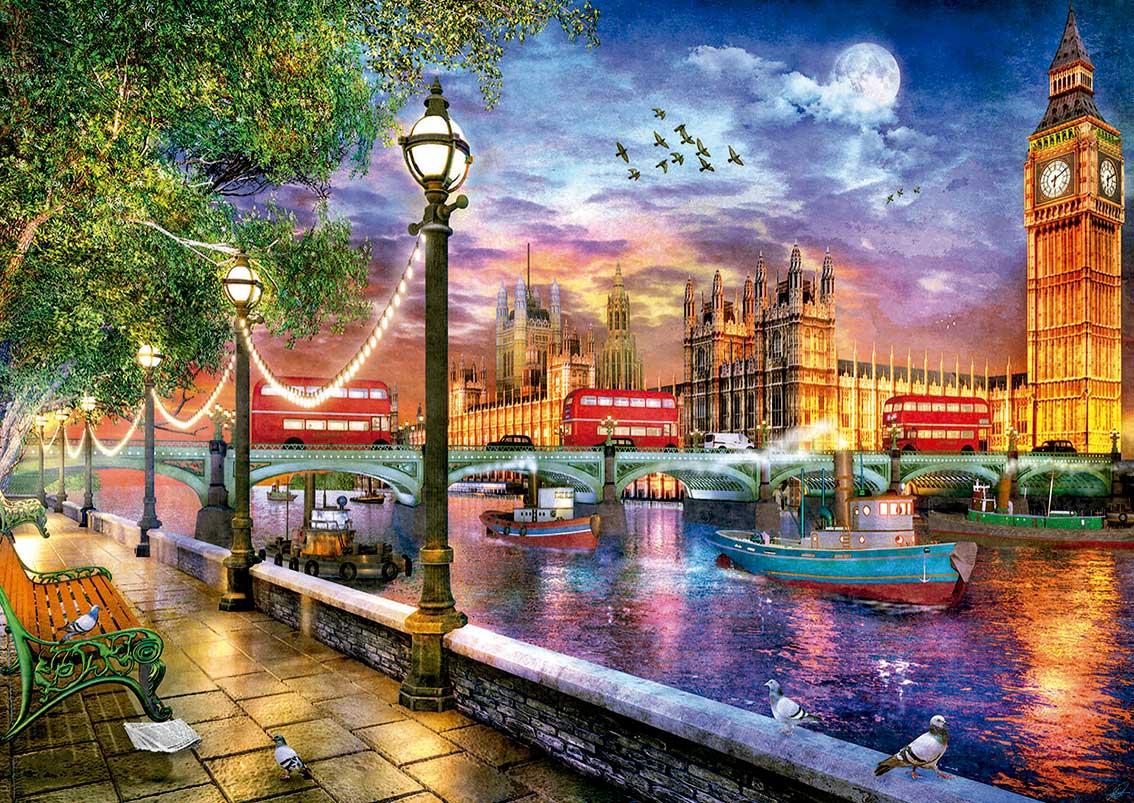 Puzzle Educa Londres al Atardecer de 2000 Piezas