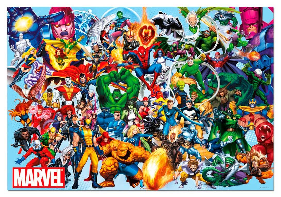 Puzzle Educa Los Héroes de Marvel de 1000 Piezas