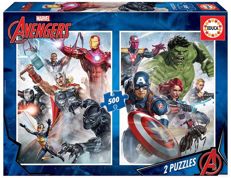 Puzzle Educa Los Vengadores 2 x 500 Piezas
