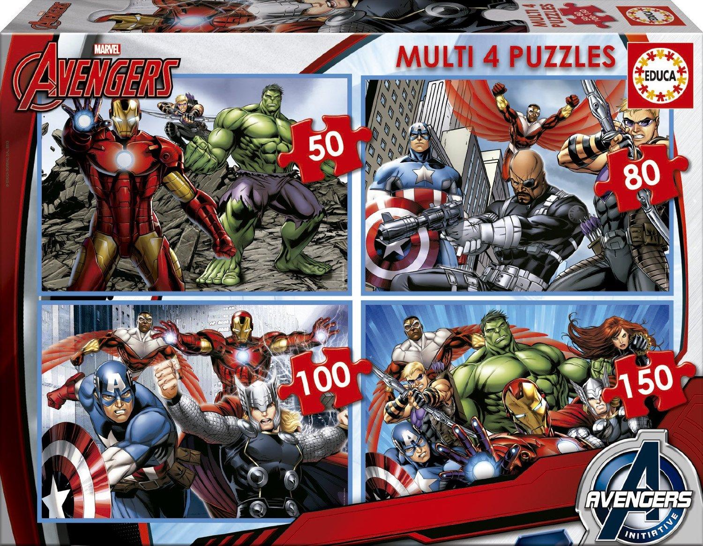 Puzzle Educa Los Vengadores Multi Progresivo 50+80+100+150
