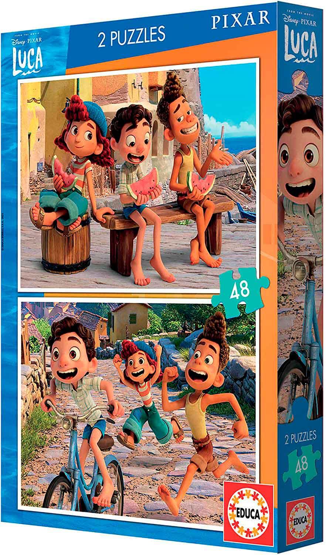 Puzzle Educa Luca Disney de 2 x 48 Piezas