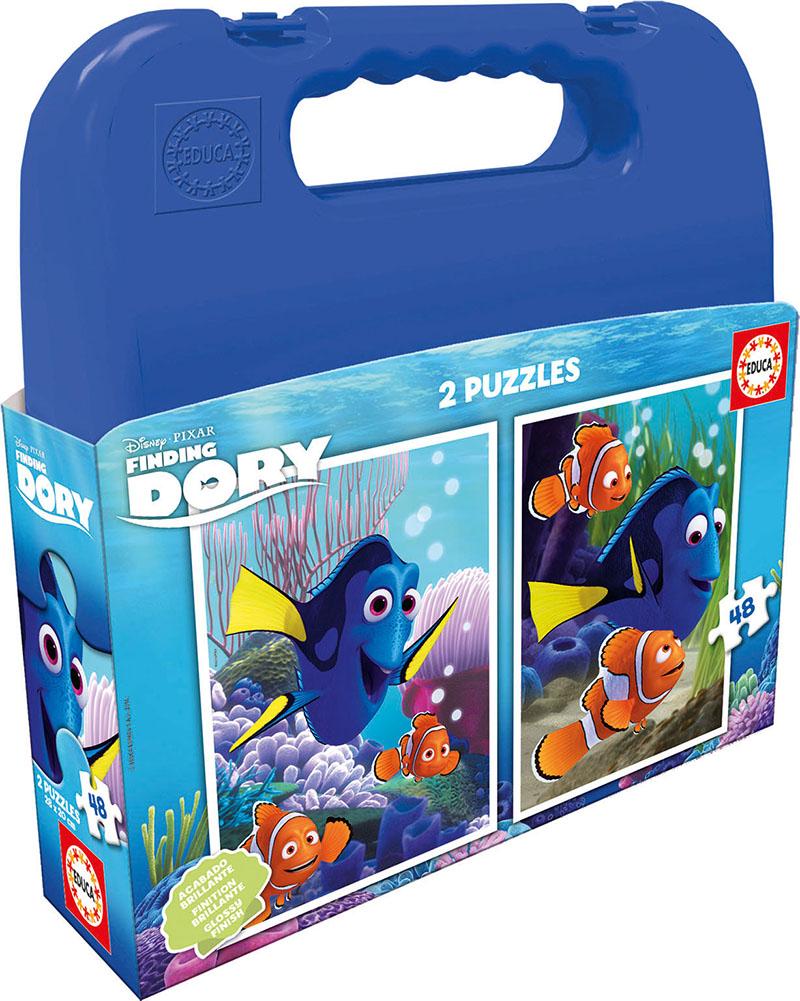 Puzzle Educa Maleta Buscando a Dory Mulit 2 x 48 Piezas