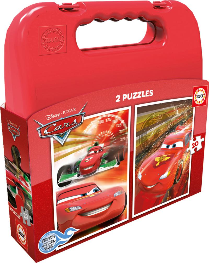 Puzzle Educa Maleta Cars 2 x 20 Piezas