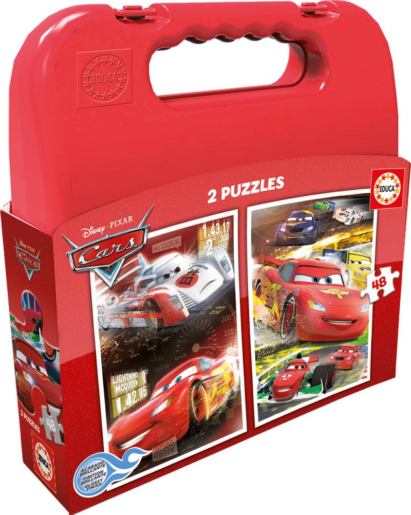 Puzzle Educa Maleta Cars 2 x 48 Piezas