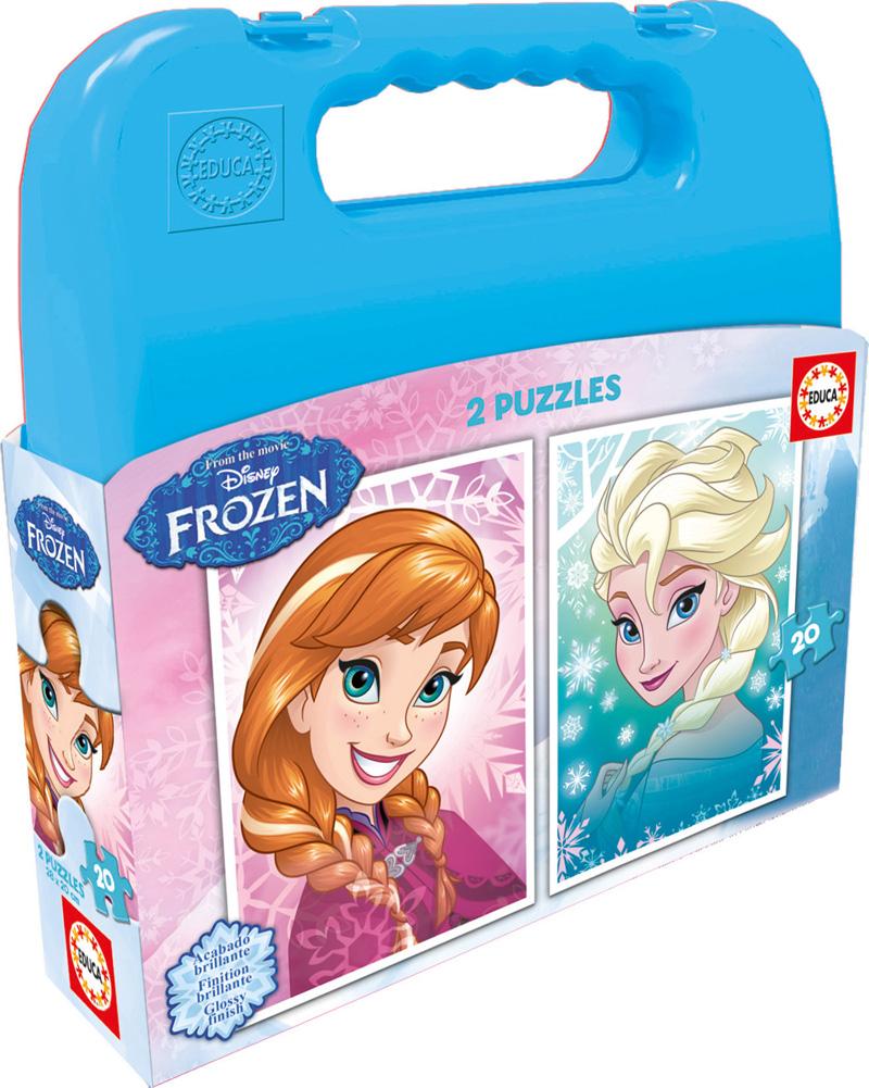 Puzzle Educa Maleta Frozen 2 x 20 Piezas