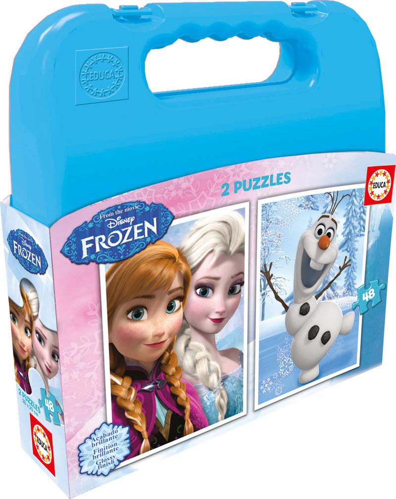 Puzzle Educa Maleta Frozen 2 x 48 Piezas