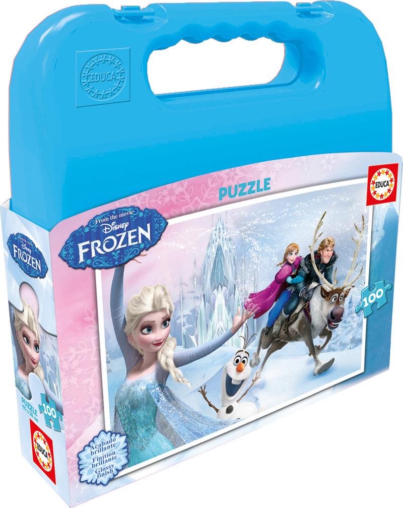 Puzzle Educa Maleta Frozen de 100 Piezas