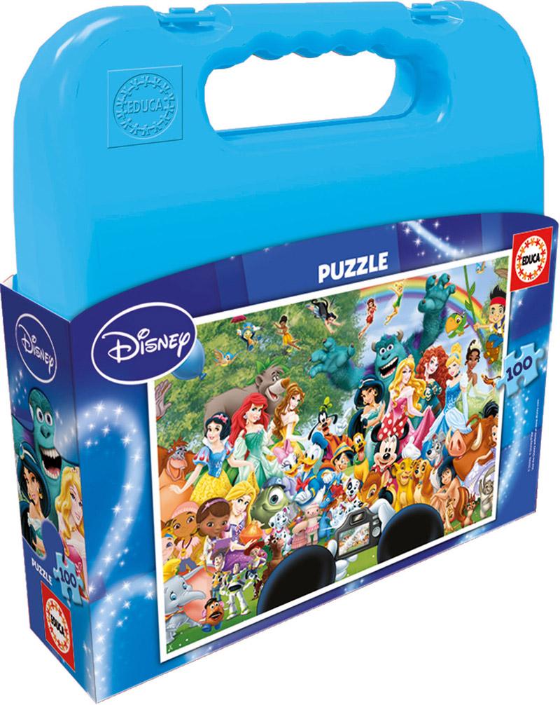 Puzzle Educa Maleta Maravilloso Mundo Disney de 100 Piezas