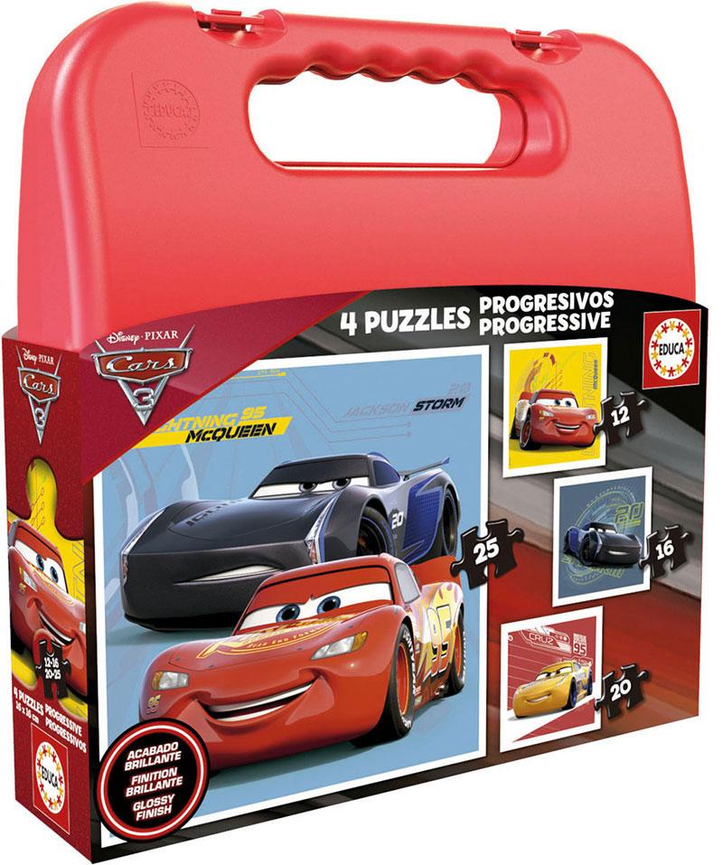 Puzzle Educa Maleta Progresiva Cars 3