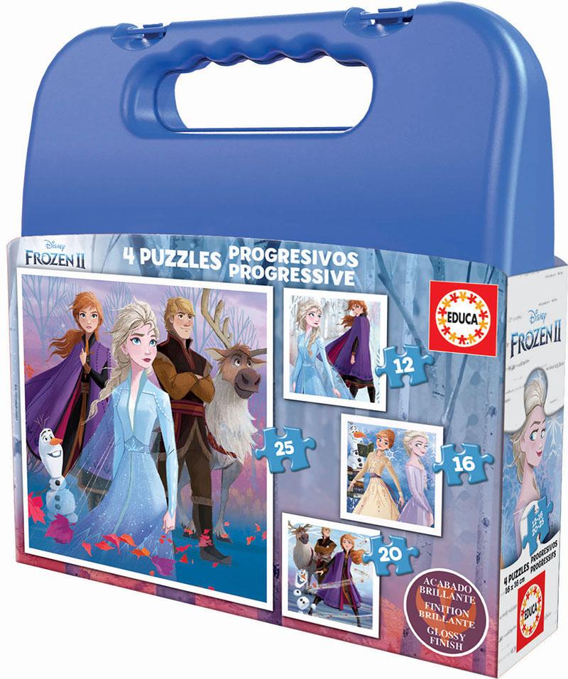Puzzle Educa Maleta Progresiva Frozen 2