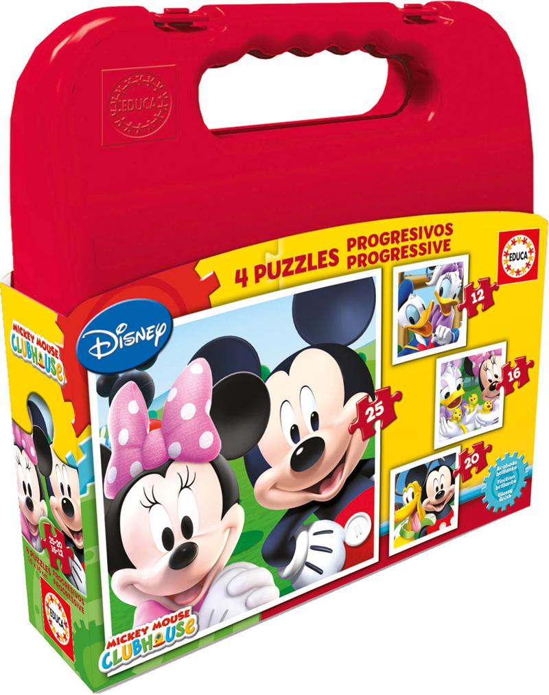 Puzzle Educa Maleta Progresiva Mickey Mouse