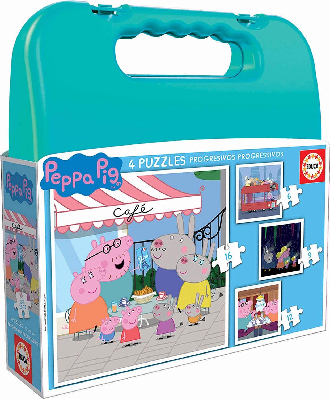 Puzzle Educa Maleta Progresiva Peppa Pig