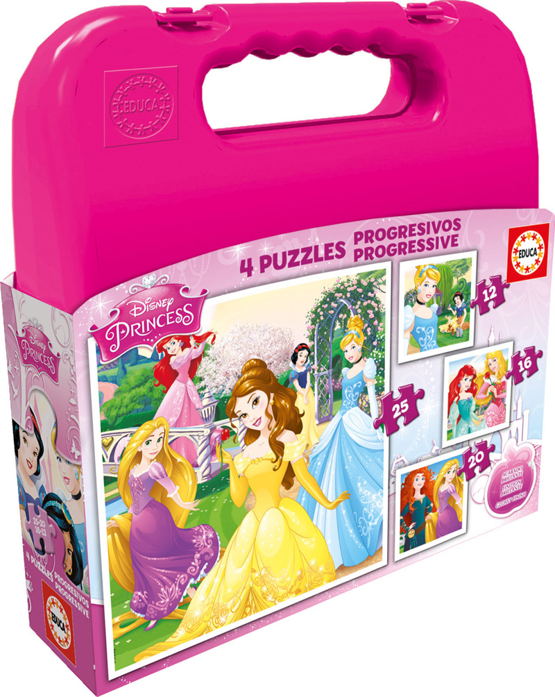 Puzzle Educa Maleta Progresiva Princesas Disney
