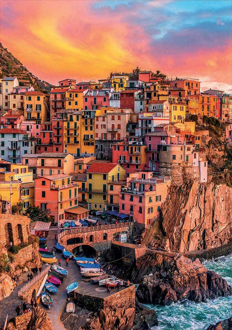 Puzzle Educa Manarola, Cinque Terre, Italia de 300 Piezas XXL