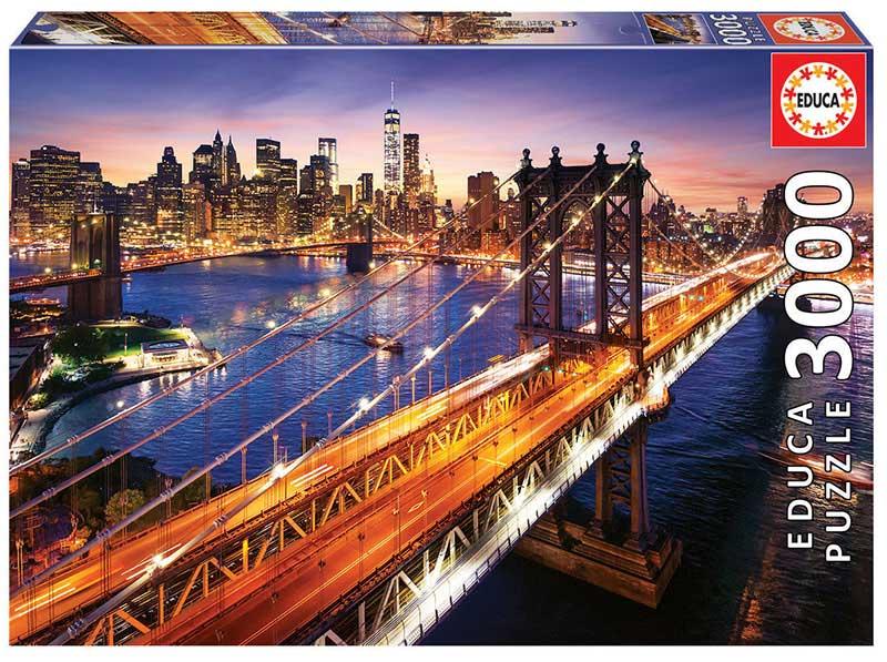 Puzzle Educa Manhattan al Atardecer de 3000 Piezas