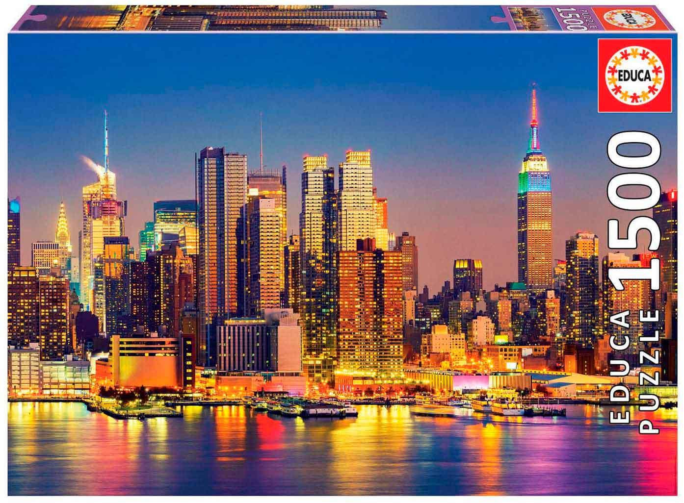 Puzzle Educa Manhattan de Noche de 1500 Piezas