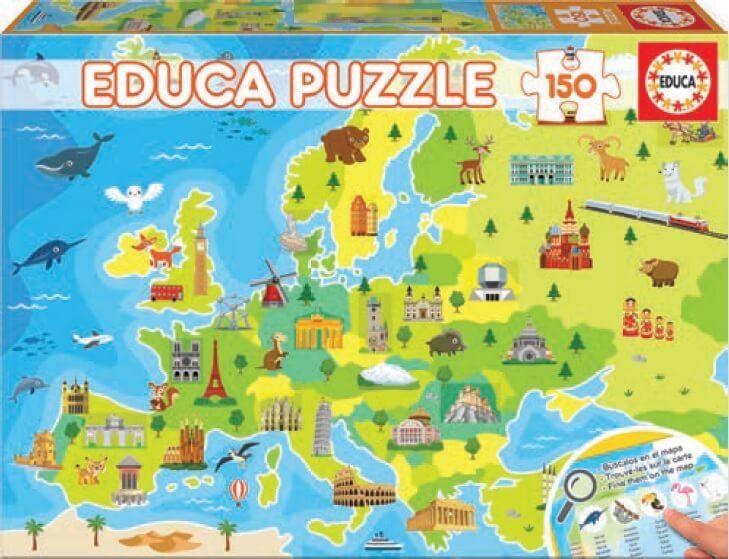 Puzzle Educa Mapa de Europa de 150 Piezas