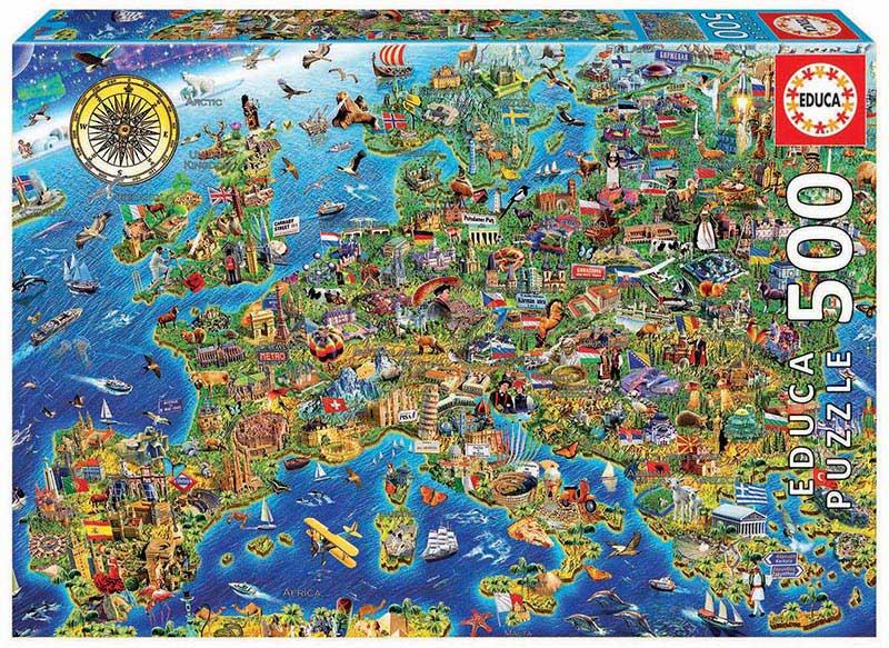Puzzle Educa Mapa de Europa de 500 Piezas