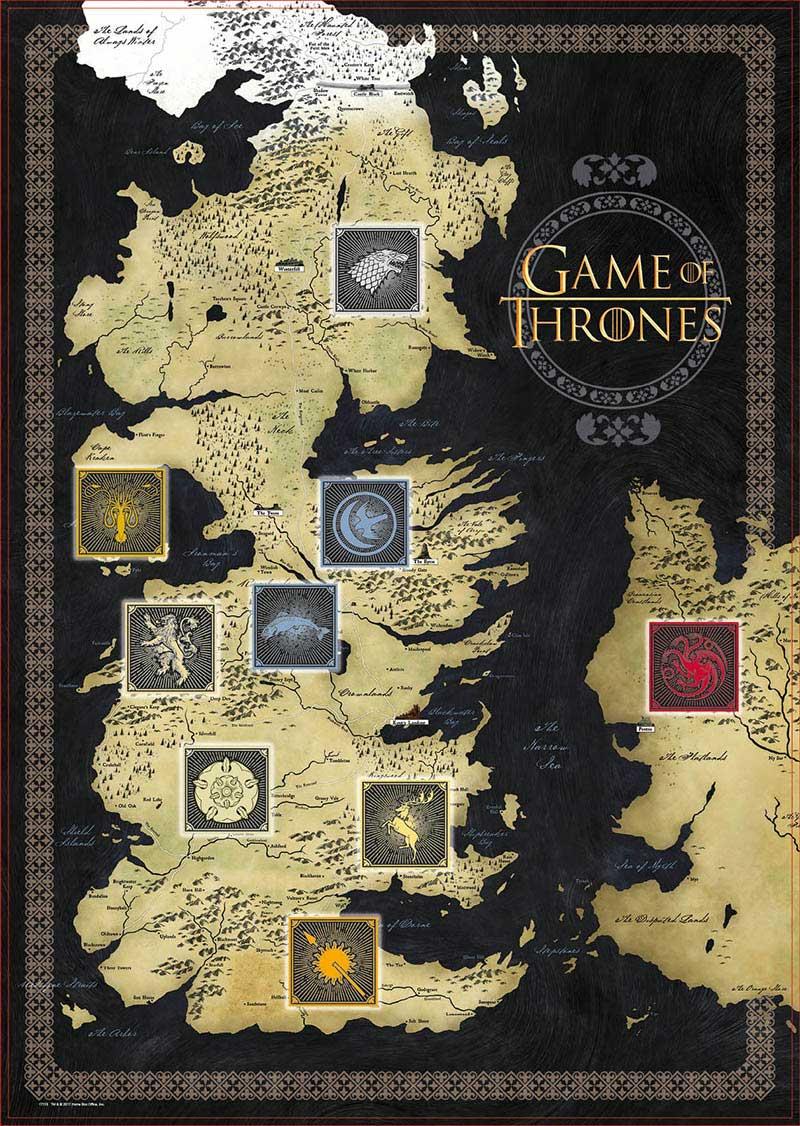 Puzzle Educa Mapa de Juego de Tronos de 1000 Piezas