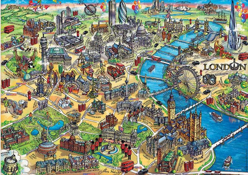 Puzzle Educa Mapa de Londres de 500 Piezas