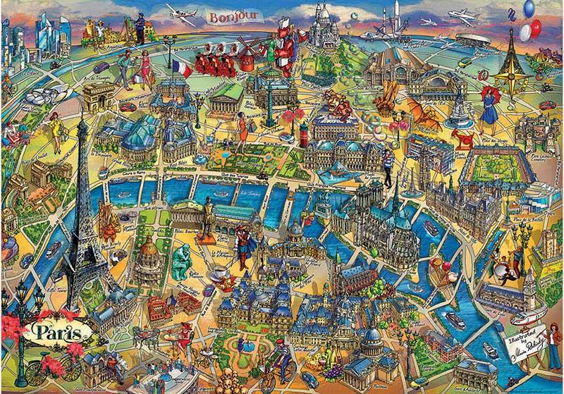 Puzzle Educa Mapa de París de 500 Piezas