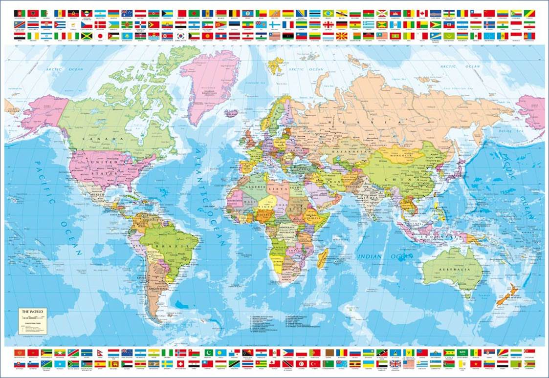 Puzzle Educa Mapa del Mundo de 1500 Piezas