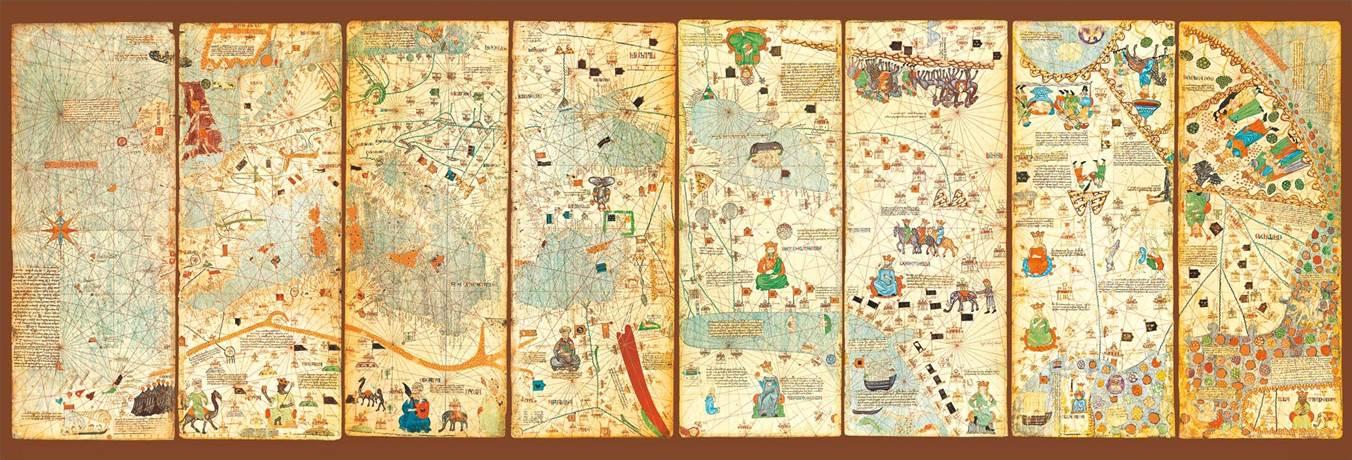 Puzzle Educa Mapamundi 1375 Panorama de 3000 Piezas