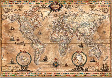 Puzzle Educa Mapamundi de 1000 Piezas