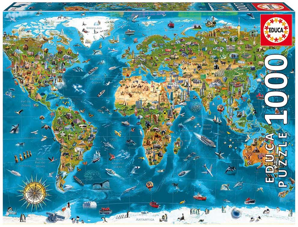 Puzzle Educa Maravillas del Mundo de 1000 Piezas