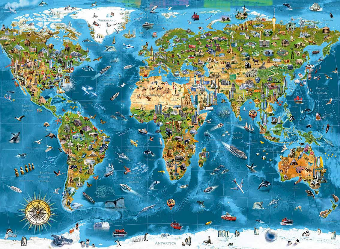 Puzzle Educa Maravillas del Mundo de 12000 Piezas
