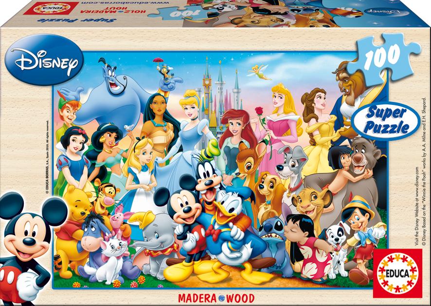 Puzzle Educa Maravilloso Mundo Disney de 100 Piezas