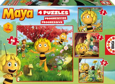 Puzzle Educa Maya Progresivo 6+9+12+16 Piezas