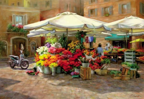 Puzzle Educa Mercado de Flores de 1500 Piezas