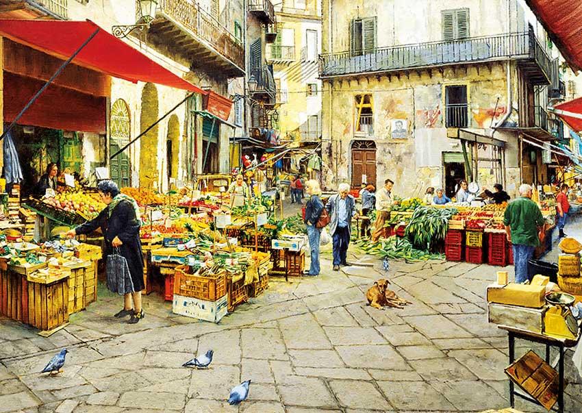 Puzzle Educa Mercado de Palermo de 3000 Piezas
