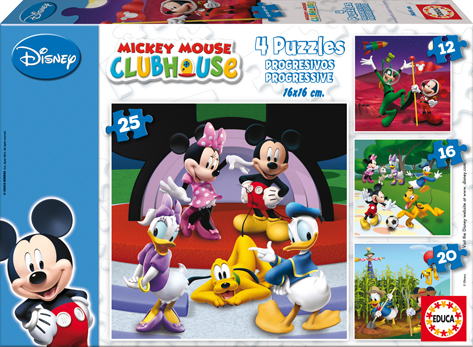 Puzzle Educa Mickey Mouse Progresivo 12+16+20+25 Piezas