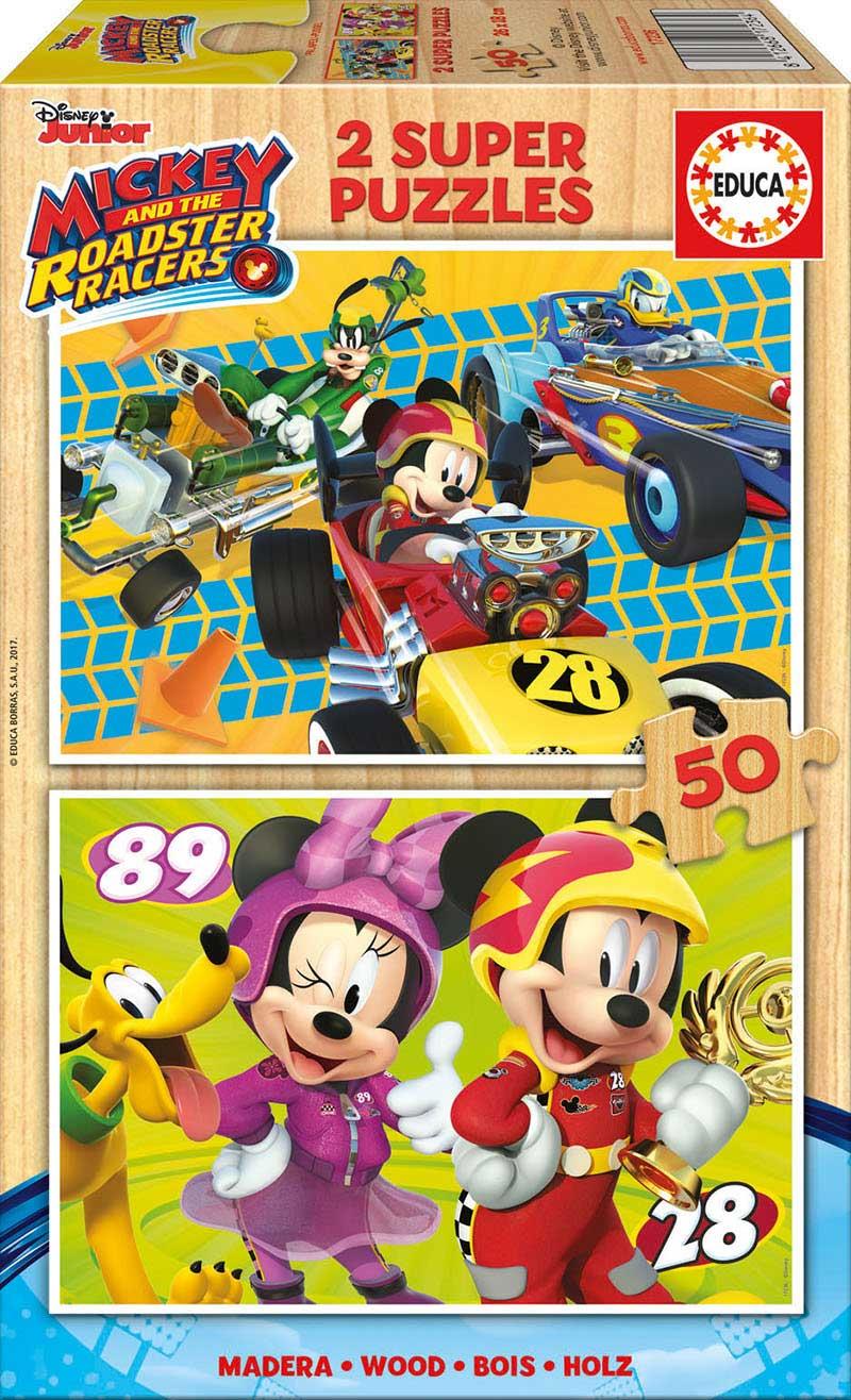 Puzzle Educa  Mickey y los Súper Pilotos 2 x 50 Pzs Madera