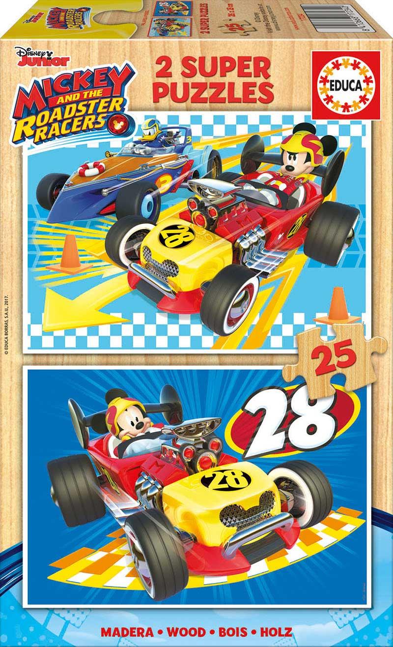 Puzzle Educa Mickey y los Súper Pilotos de 2 x 25 Pzs Madera