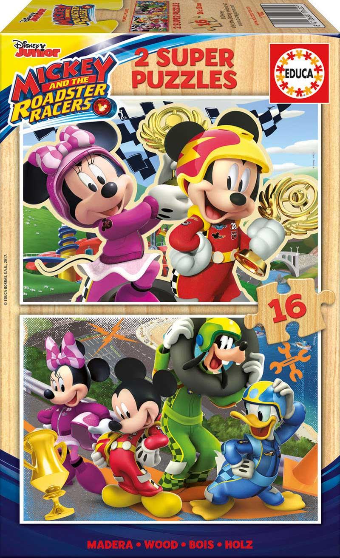 Puzzle Educa Mickey y los Superpilotos de 2 x 16 Pzs Madera