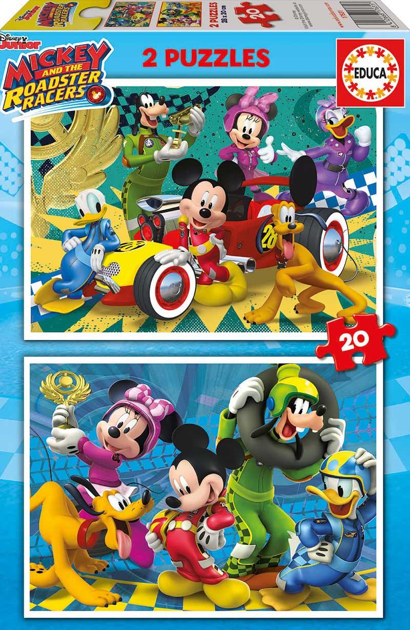 Puzzle Educa Mickey y los Superpilotos de 2 x 20 Piezas