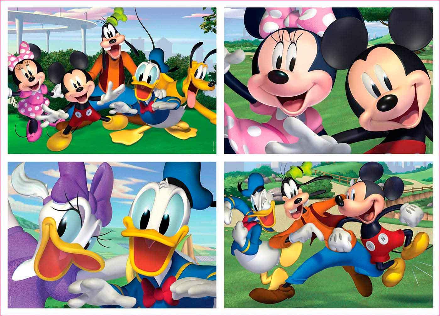 Puzzle Educa Mickey y Sus Amigos Progresivo 20+40+60+80 pzs