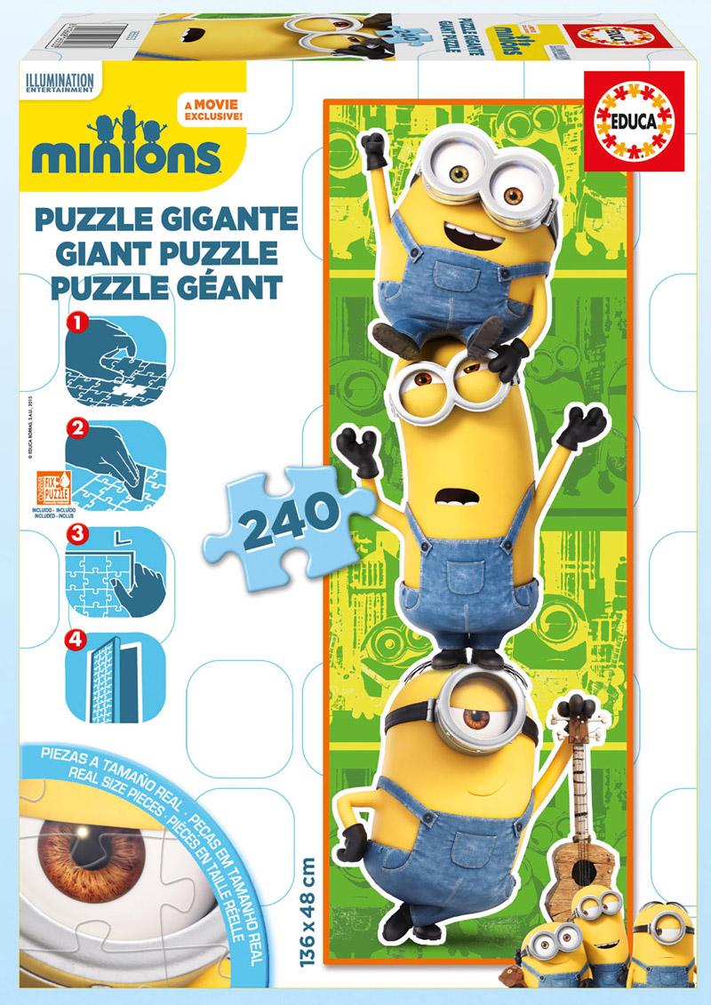Puzzle Educa Minions Gigante de 240 Piezas
