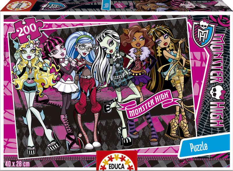 Puzzle Educa Monster High de 200 Piezas