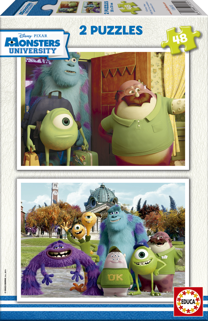 Puzzle Educa Monster University 2 x 48 Piezas