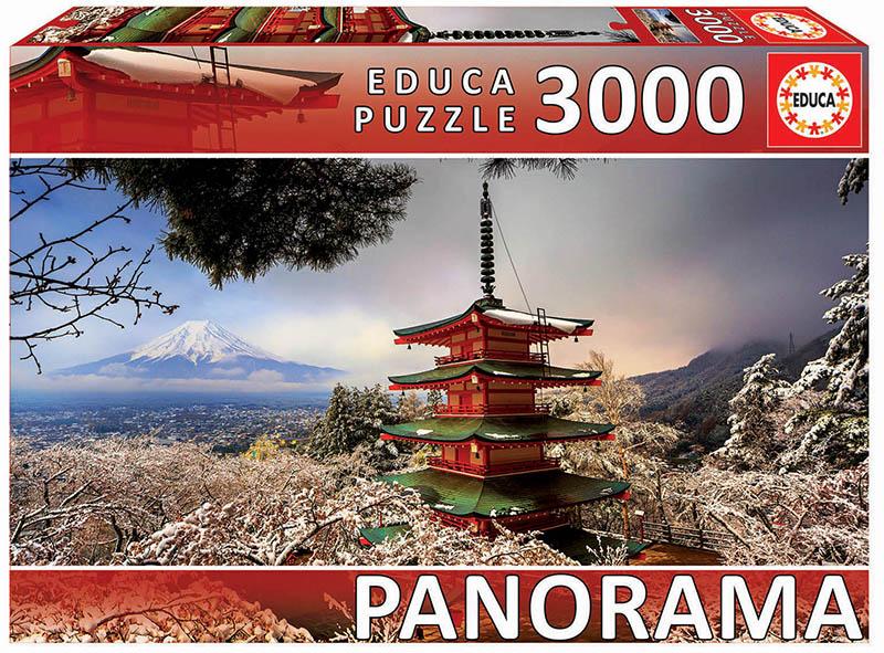 Puzzle Educa Monte Fuji y Pagoda Chureito, Japón de 3000 Piezas