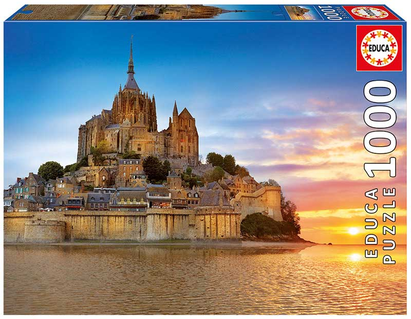Puzzle Educa Monte Saint-Michel, Francia de 1000 Piezas