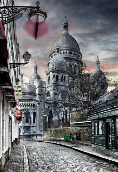 Puzzle Educa MontMartre, París de 1000 Piezas