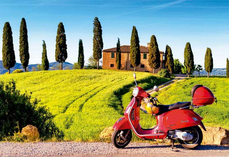 Puzzle Educa Moto en la Toscana de 1500 Piezas