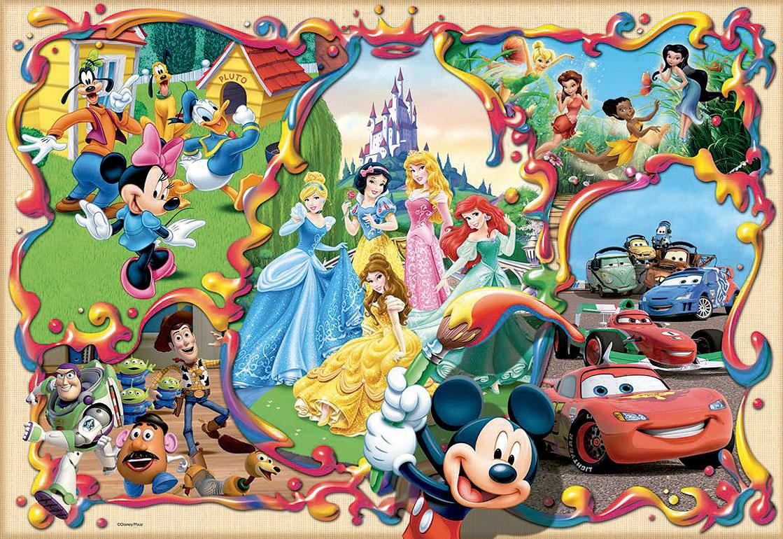 Puzzle Educa Mundos Disney de 1000 Piezas