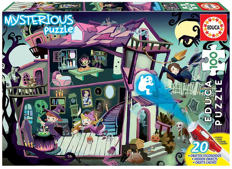 Puzzle Educa Mysterious Casa Encantada de 100 Piezas